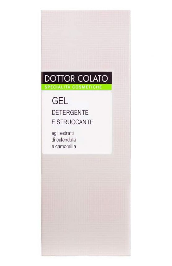 Reinigingsgel en make-up remover van Dottor Colato