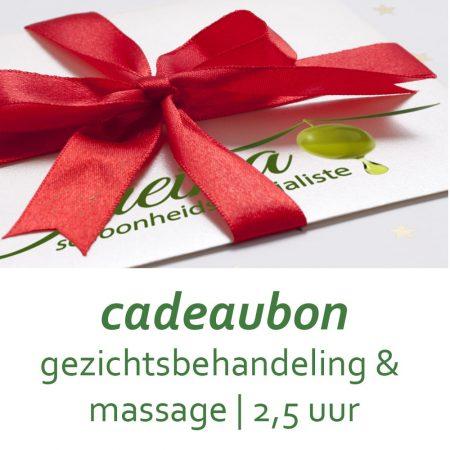 Cadeaubon Gezichtsbehandeling en Massage 2,5 uur
